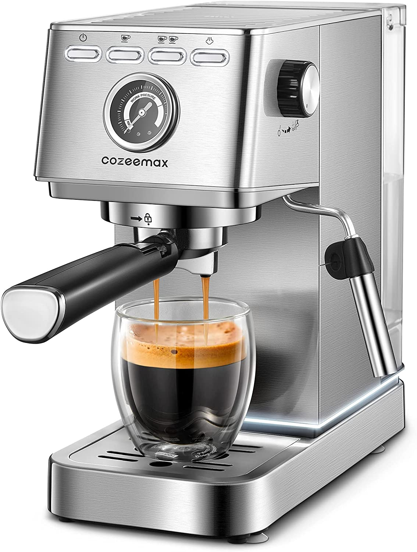 Cozeemax 20Bar Compact Espresso & Cappuccino Maker $98.40 Coupon