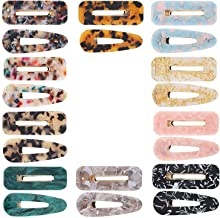 TOOGOO 20Pcs Acrylic Resin Hair Clips Set Fashion Geometric Alligator Barrettes Leopard Pattern Vintage Hair Accessories Hair Pins For Women