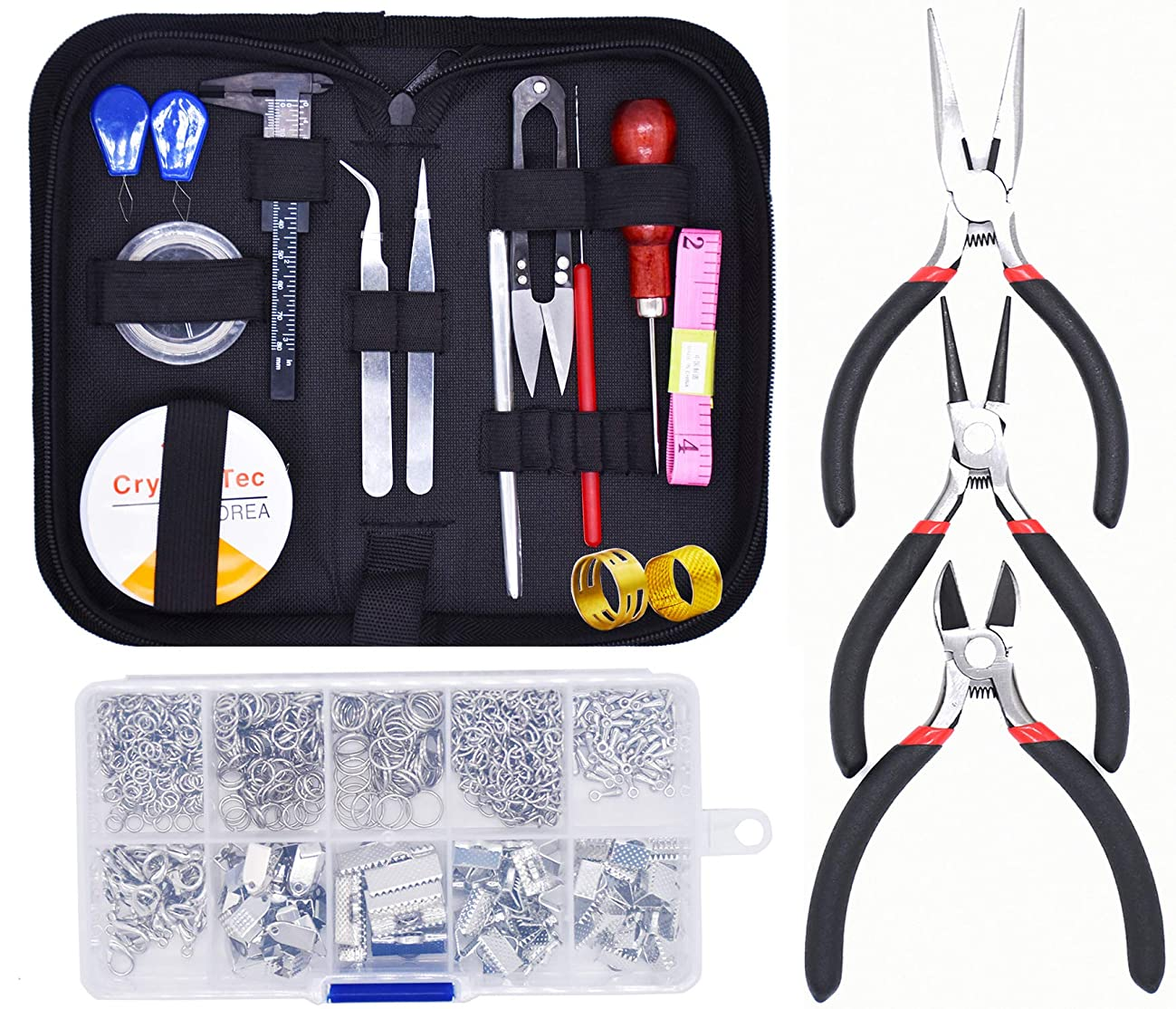 Handshop Jewelry Making Supplies Kit - Jewelry Repair Tools,Jewelry Beading Wire and Jewelry Findings