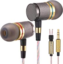 Betron YSM1000 Headphones, Earbuds, High Definition, in-Ear, Noise Isolating, Heavy Deep Bass for iPhone, iPod, iPad, MP3 Players, Samsung Galaxy, Nokia, HTC, etc (Gold Without Mic)