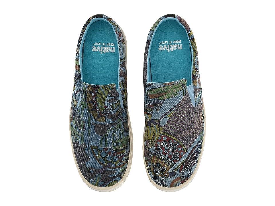Native Shoes Miles Denim Print (Acid Wash/Bone White/Ola Volo) Shoes