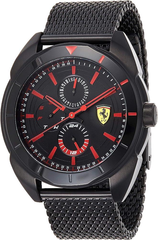 Scuderia ferrari orologio multi-quadrante uomo con cinturino in acciaio inox 830636