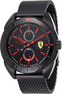 Ferrari Unisex-Adult Quartz Watch, Analog Display and Stainless Steel Strap 830636