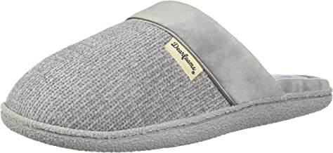 Dearfoams Women's Chenille Clog with Quilted Sock Slipper