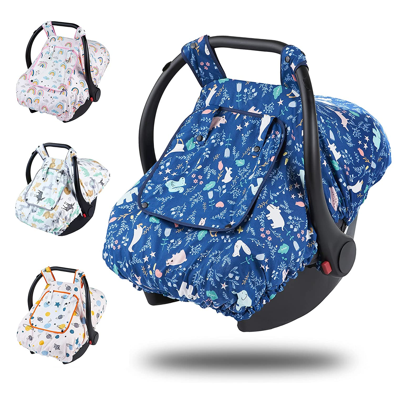 Car Seat Canopy- 100% Nashville-Davidson Mall Cotton Windo Covers Peep has Houston Mall Baby