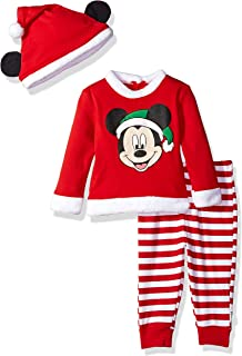 Disney Baby Boys' Mickey Mouse Holiday 3-Piece Pant Set