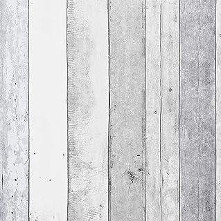 Wallpaper Roll Barn Wood Decor Planks Panel Panels Pine Grain White 24in x 27ft
