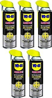 WD-40 Specialist Water Resistant Silicone Lubricant with Smart Straw Sprays 2 Ways 11 OZ 5 Pack