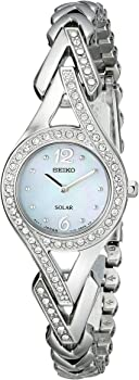 Seiko Women's Silvertone Crystal Solar Watch