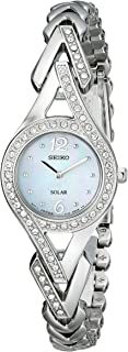 Seiko Women's Silvertone Crystal Solar Watch