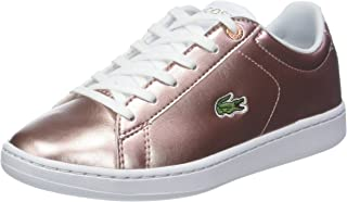 Lacoste Carnaby EVO 318 2 Kids Fashion Shoes, PNK/WHT