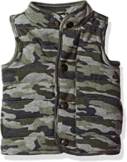Mud Pie Baby Boys' Toddler Quilted Vest Sherpa Lined