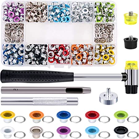 3//16 Inch 10 Colors Grommets Kit ACONDE 300 Piece Metal Eyelets Grommet Set with Installation Tools for Bags Shoes Clothes DIY Craft