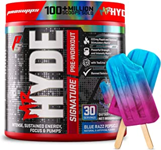 ProSupps Mr. Hyde Signature Series Pre-Workout Energy Drink – Intense Sustained Energy, Focus & Pumps with Beta Alanine, Creatine, Nitrosigine & TeaCrine (30 Servings Blue Razz)