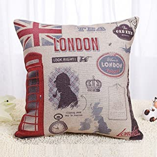 Onker Throw Pillow Cover, Cotton Linen Square Decorative Throw Pillow Case Cushion Cover 18