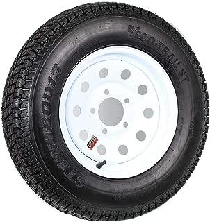 ST175/80D13 Loadstar Trailer Tire LRC on 5 Bolt White Mod Wheel