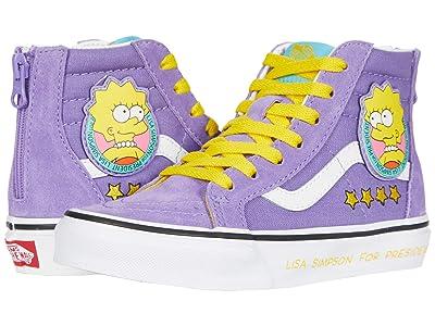 Vans Kids Vans X The Simpsons Sneaker Collection (Little Kid) ((The Simpsons) Lisa 4 Prez (Sk8-Hi Zip)) Kids Shoes