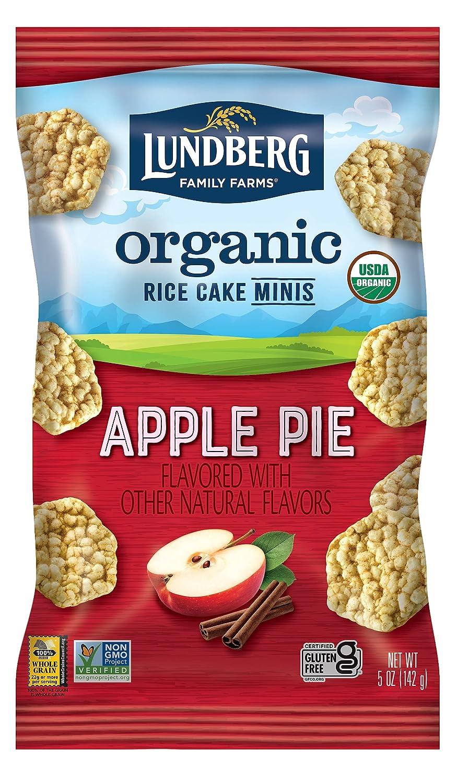 Lundberg Organic Apple Pie Rice Cake Minis, 5oz, Gluten-Free, Whole Grain, USDA Certified Organic, Non-GMO Project Verified