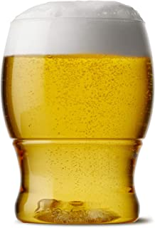 TOSSWARE 12oz Pint Jr - recyclable beer plastic cup - SET OF 12 - stemless, shatterproof and BPA-free beer glasses