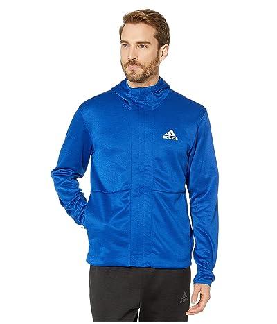 adidas Team Issue Full Zip Hoodie (Collegiate Royal/Heather/White) Men