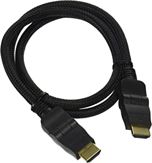 Pyle PHDMRT3 Horizontal Swivel HDMI Cable with Heavy Duty Fiber Shielding (3 feet, Black)
