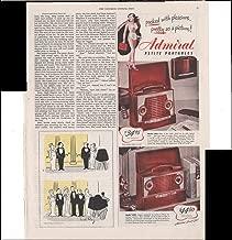 Admiral Petite Portable Radios Beach Home 1948 Vintage Antique Advertisement