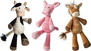 Mary Meyer Loosey Goosey Stuffed Animal Soft Toys, Set of 3, 9-Inches, Farm Pig, Cow & Horse