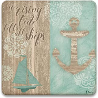 CoasterStone Absorbent Coaster Drinks Rising Tide, 4.25 Inches Wide, Set of Four