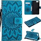 f�r Huawei Honor V10 H�lle,Gepr�gte Muster Handy h�lle/Tasche/Cover/Case f�r das Huawei Honor V10 PU Leder Flip Cover Leder H�lle Standfunktion Kredit Kartenf�cher (S) (5)