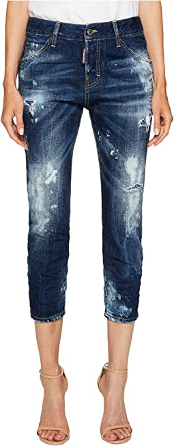 DSQUARED2 - Baker Wash Cool Girl Cropped Jeans in Blue