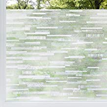 rabbitgoo Privacy Window Film Frosted Matte Window Sticker Static Cling Door Film No Glue Glass Film Window Sticker Anti-U...