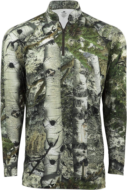 Mossy Oak Men's Hunting Shirts Camo Lightweight Limited price Store Zip Quarter