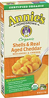 Annie's Shells & Aged Cheddar Macaroni and Cheese Mac & Cheese, 6 oz (Pack of 12)