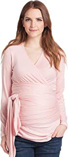 Lilac Clothing Women's Faux Wrap Maternity Nursing Top