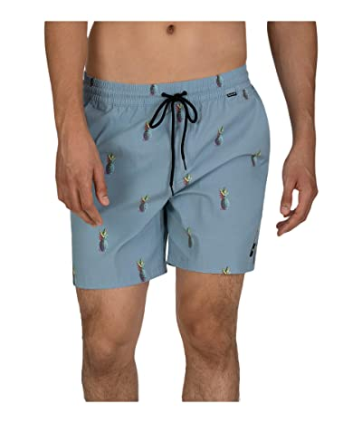 Hurley 17 Pineapple Volley Shorts (Light Armory Blue) Men