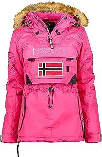 disponible en 2 colores Geographical Norway de S a XXL modelo Clara Abrigo acolchado para mujer capucha desmontable con forro sint/ético