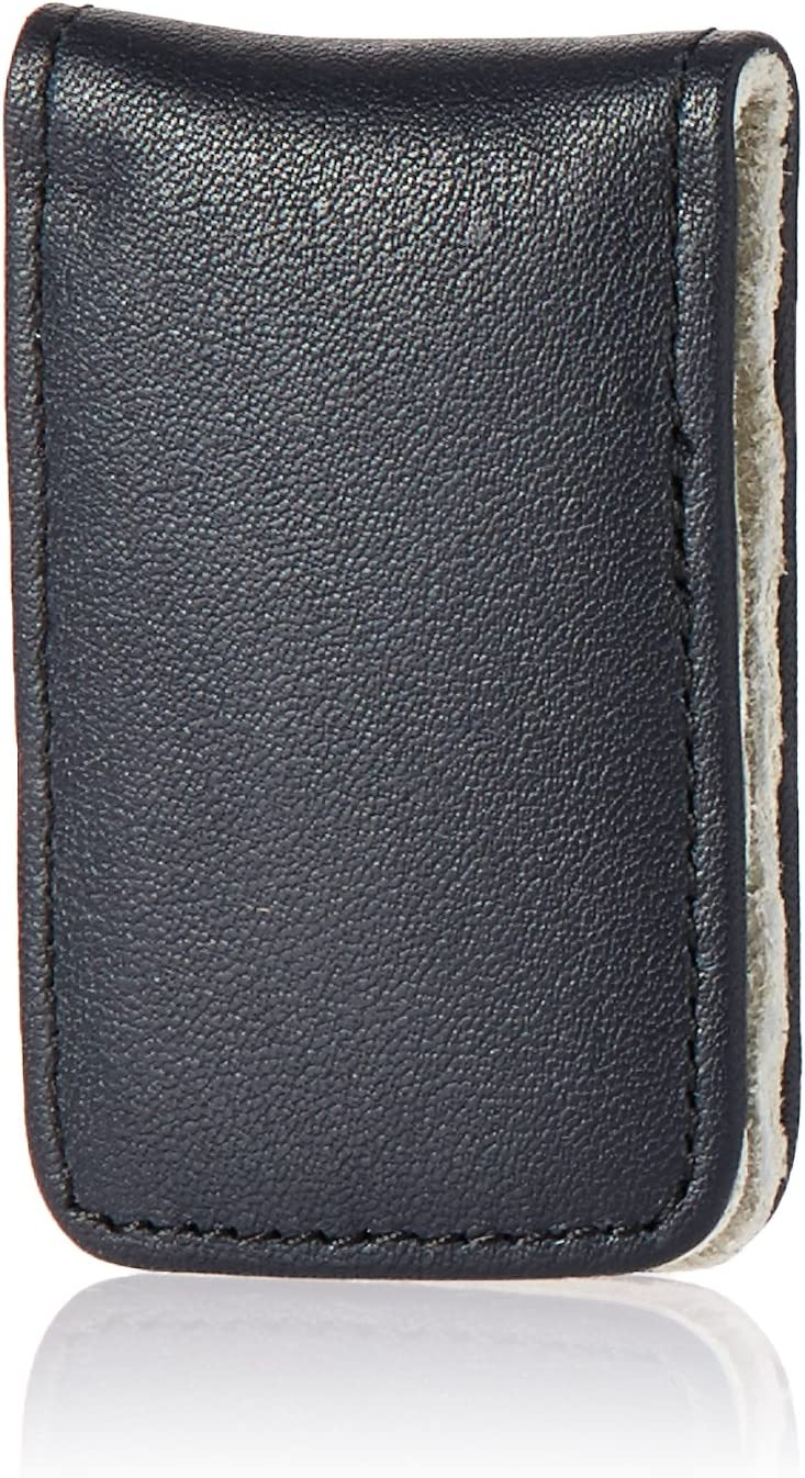 Royce Leather Magnetic Money Clip in Leather with Suede Lining, Blue and Grey, One Size