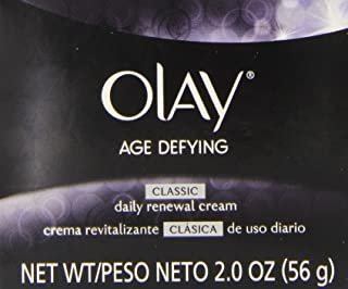Olay Age Defying Classic Daily Renewal Cream Facial Moisturizer, 2 Ounce