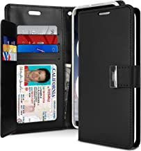 Goospery Rich Wallet for Samsung Galaxy Note 8 Case (2017) Extra Card Slots Leather Flip Cover (Black) NT8-RIC-BLK