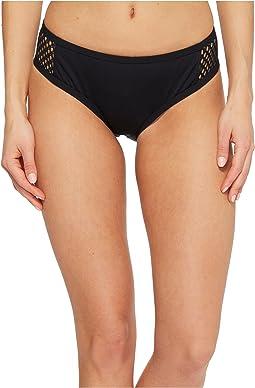 Mesh Solids Boogie Retro Bikini Bottom