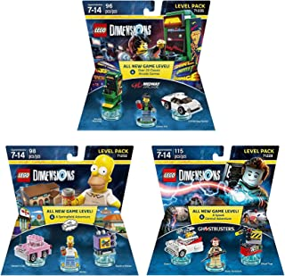 Midway Arcade Level Pack + The Simpsons Homer Level Pack + Ghostbusters Peter Venkman Level Pack - Lego Dimensions (Non Machine Specific)