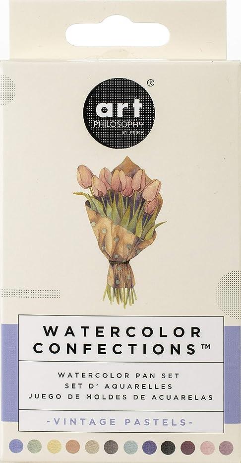 Prima Marketing 636722 Prima Confections Watercolor Pans 12/Pkg-Vintage Pastel