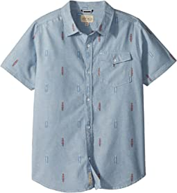 Lucky Brand Kids - Short Sleeve Chambray Shirt (Big Kids)