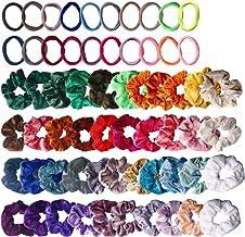 62 Pcs Hair Scrunchies Velvet Elastic Hair Bands Scrunchy Hair Ties Ropes Scrunchie for Women or Girls Hair Accessories - ...