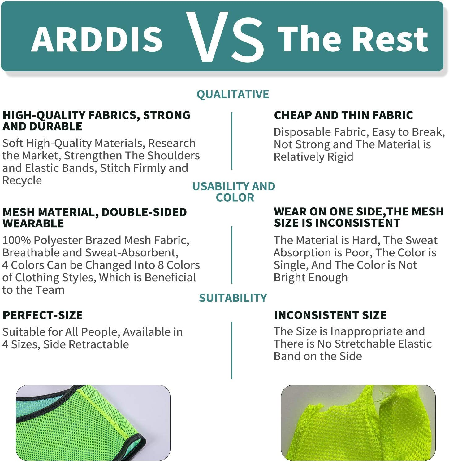 ARDDIS 6 Pack Pinnies Double Sided Mesh Scrimmage Practice Reversible Pinnies Breathable Hockey Practice Soccer Vest Jersey with Drawstring Bag for Kids and Adult Outdoor Sports : Sports & Outdoors