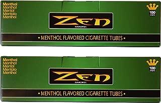 Zen Menthol 100mm Cigarette Tubes – 2 pack, 400 Tubes Total