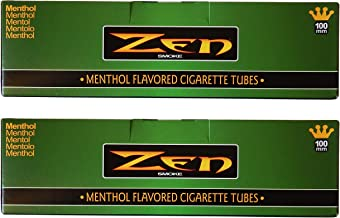 Zen Menthol 100mm Cigarette Tubes – 2 pack, 400 Tubes Total