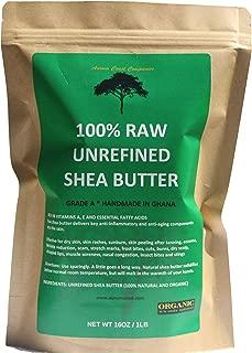 Unrefined Shea Butter   Handmade in Ghana   100% Raw and Organic Shea Butter   Shea Butter 16 oz   New Launch Sales Price!  