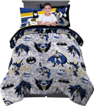 Franco Kids Bedding Super Soft Comforter and Sheet Set with Sham, 5 Piece Twin Size, Batman