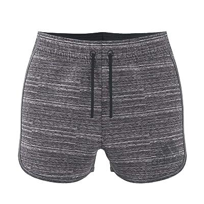 adidas Melange Shorts (Black Melange/Dark Grey Heather/Solid Grey) Women